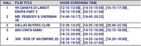movie timings 19